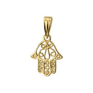 14 krt geelgouden Hanger Fatima hand model. 4016809