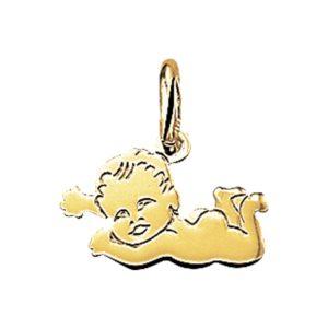 14 krt geelgouden Hanger baby model. 4005882