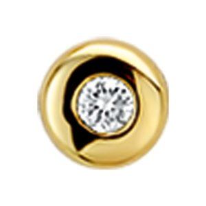 14 krt geelgouden Hanger diamant 0.05ct H SI model. 4014795