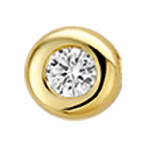 14 krt geelgouden Hanger diamant 0.05ct H SI model. 4014796