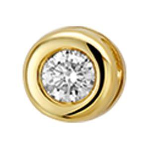 14 krt geelgouden Hanger diamant 0.05ct H SI model. 4014797