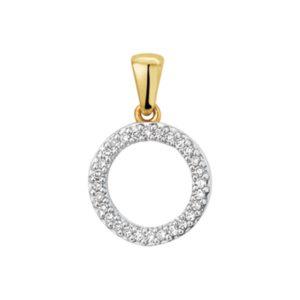 14 krt geelgouden Hanger diamant 0.06ct H SI model. 4018945