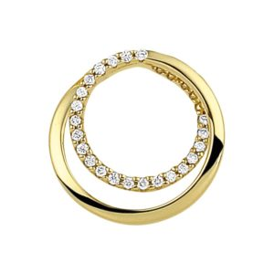 14 krt geelgouden Hanger diamant 0.09 ct. model. 4018621