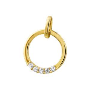 14 krt geelgouden Hanger diamant 0.10 ct. model. 4016838