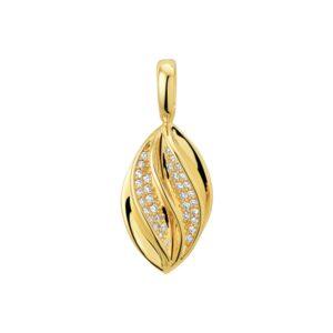 14 krt geelgouden Hanger diamant 0.12 ct. model. 4018718