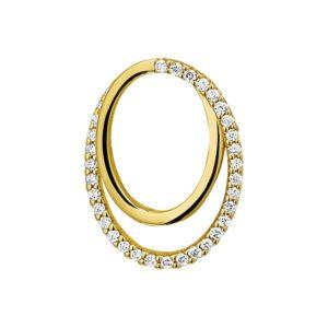 14 krt geelgouden Hanger diamant 0.13 ct. model. 4018620
