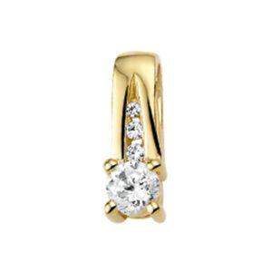 14 krt geelgouden Hanger diamant 0.183 ct. model. 4017182