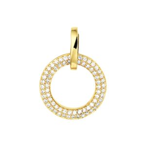 14 krt geelgouden Hanger diamant 0.25 ct. model. 4016307