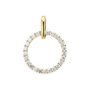 14 krt geelgouden Hanger diamant 0.50 ct. model. 4014218