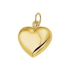 14 krt geelgouden Hanger hart model. 4005728