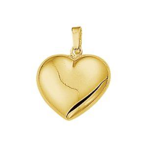14 krt geelgouden Hanger hart model. 4005730