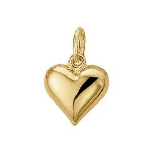 14 krt geelgouden Hanger hart model. 4009747