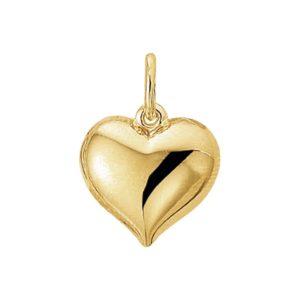 14 krt geelgouden Hanger hart model. 4009748