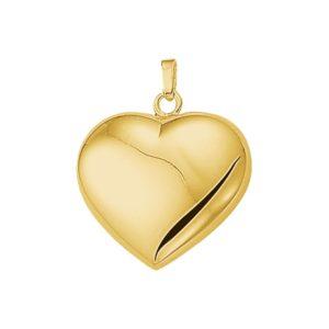 14 krt geelgouden Hanger hart model. 4009750