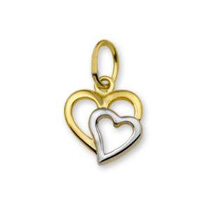 14 krt geelgouden Hanger hart  model. 4016184