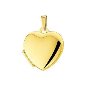 14 krt geelgouden Medaillon hart model. 4005795