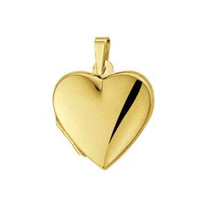 14 krt geelgouden Medaillon hart model. 4005797