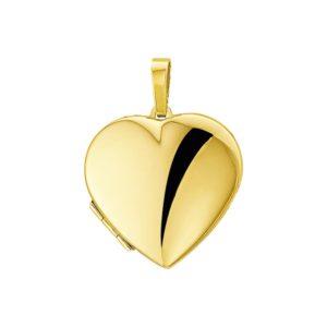 14 krt geelgouden Medaillon hart model. 4005803