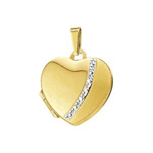 14 krt geelgouden Medaillon hart  model. 4012505