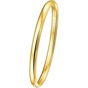 14 krt geelgouden Slavenband scharnier halfronde buis 5 mm