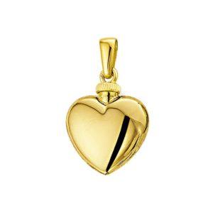 14 krt geelgouden Urnhanger hart  model. 4012388