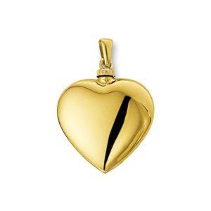 14 krt geelgouden Urnhanger hart  model. 4012389