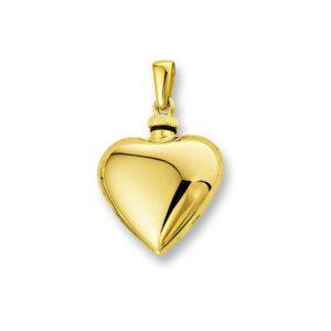 14 krt geelgouden Urnhanger hart  model. 4013158