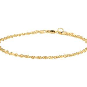 14 krt goud met zilverenen Kern Koordarmband 2