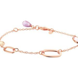14 krt roségouden Armband edelstenen 2