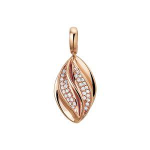 14 krt roségouden Hanger diamant 0.12 ct. model. 4400678
