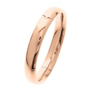 14 krt roségouden Slavenband scharnier ovale buis 10 x 60 mm model. 4400701
