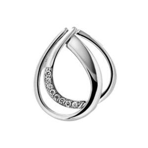 14 krt witgouden Hanger diamant 0.03 ct. model. 4103913