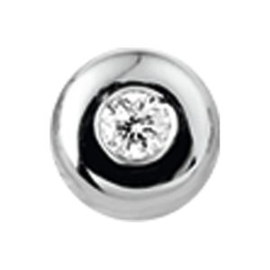 14 krt witgouden Hanger diamant 0.05ct H SI model. 4102145