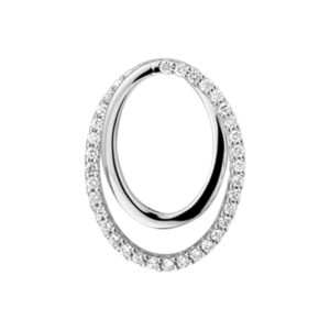 14 krt witgouden Hanger diamant 0.13 ct. model. 4104431