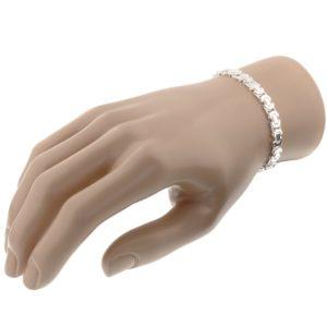 Echt zilveren Armband konings plat 6