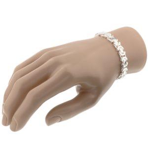 Echt zilveren Armband konings plat 8