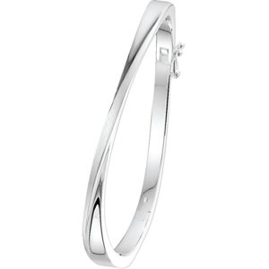 Echt zilveren Slavenband scharnier poli/mat 5