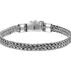 Echt zilveren geoxideerd Armband 6 mm