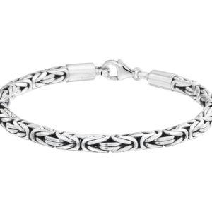 Echt zilveren geoxideerd Armband konings 5