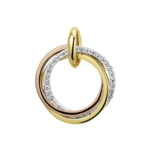 Tricolor Goud Hanger diamant 0.12 ct. model. 4300481