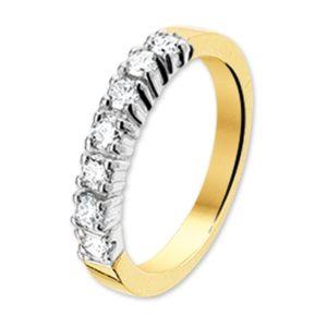 14 krt bicolor gouden Ring diamant 0.21ct H P1 model. 4206936