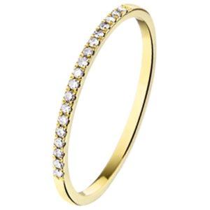 14 krt geelgouden Ring diamant 0.09 ct. model. 4016077