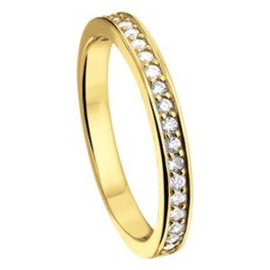 14 krt geelgouden Ring diamant 0.25 ct. model. 4014176
