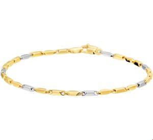 14 krt bicolor gouden dames armband 1