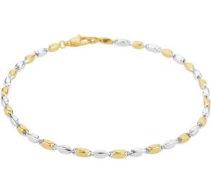 14 krt bicolor gouden dames armband 2