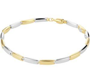 14 krt bicolor gouden dames armband 3