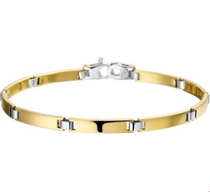 14 krt bicolor gouden dames armband 4