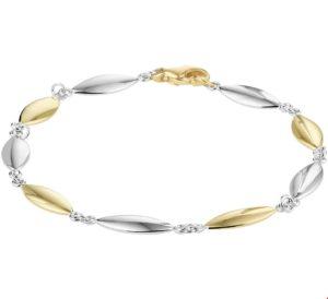 14 krt bicolor gouden dames armband 5
