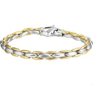 14 krt bicolor gouden dames armband 6