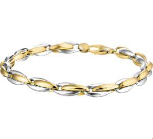 14 krt bicolor gouden dames armband anker 5